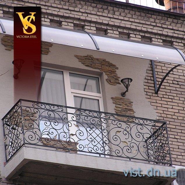 Козырёк балкона своими руками
